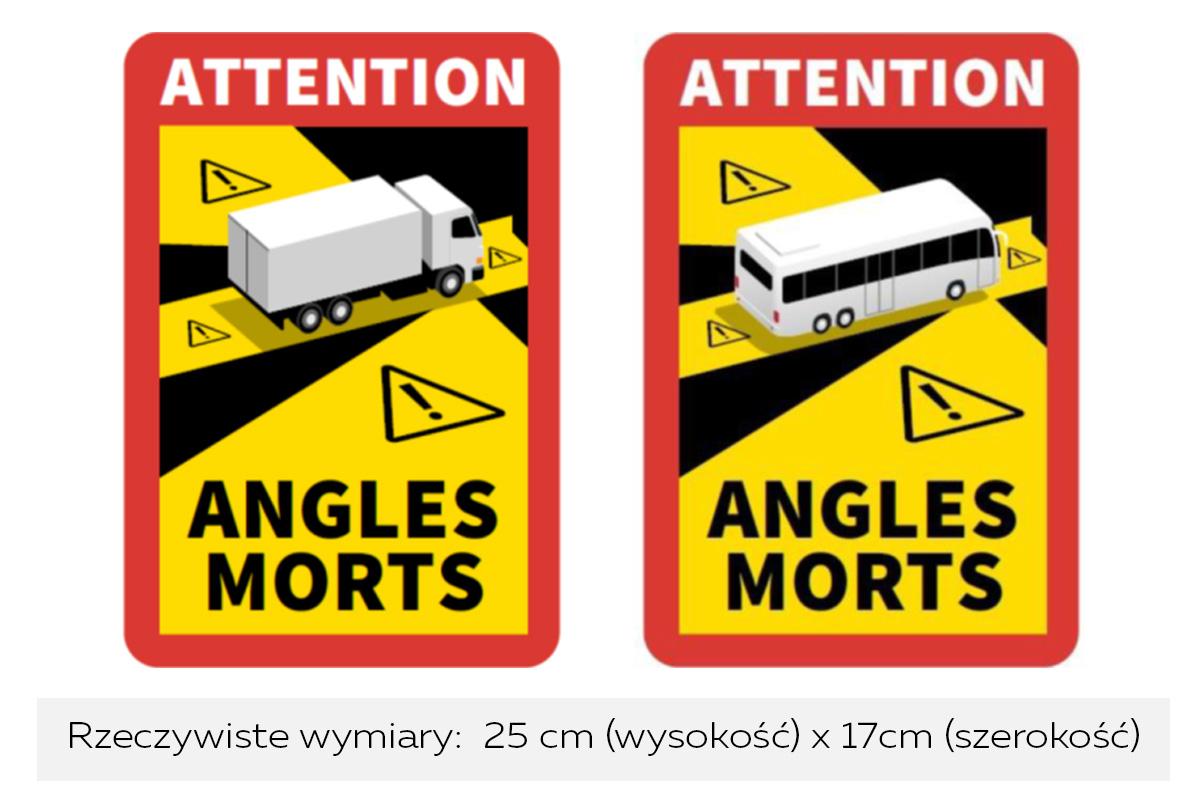 Drivia Centrum Obsługi Transportu - Naklejki Attention angles morts   Francja